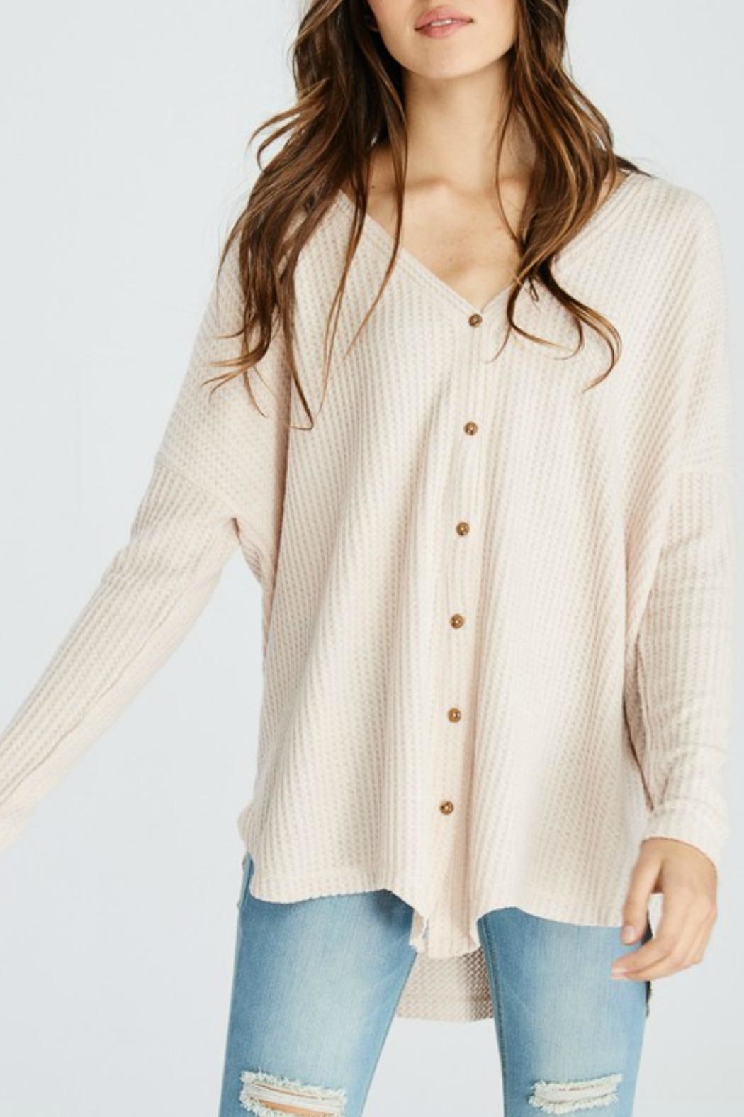 Wishlist Button-Down Thermal Top - Front Cropped Image