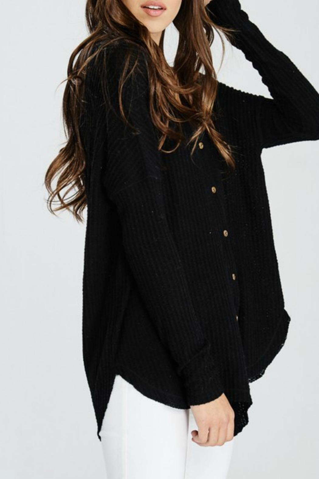 Wishlist Button-Down Thermal Top - Front Full Image
