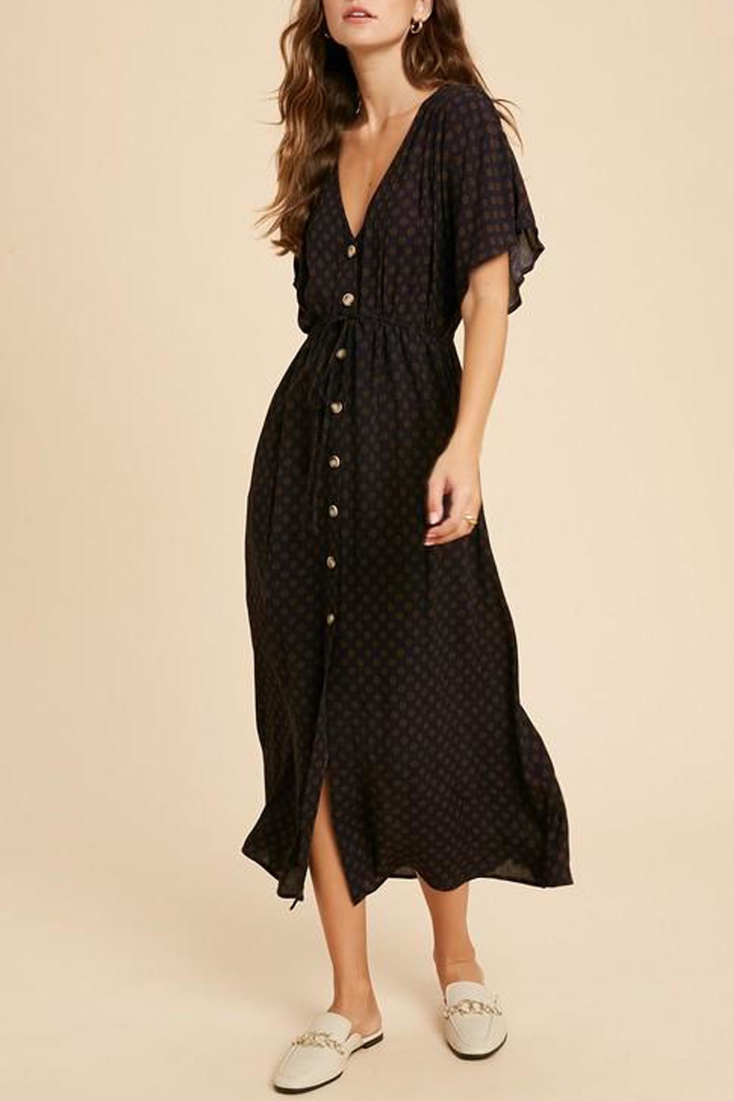 Wishlist Button-Down Waist-Tie Maxi-Dress - Front Full Image