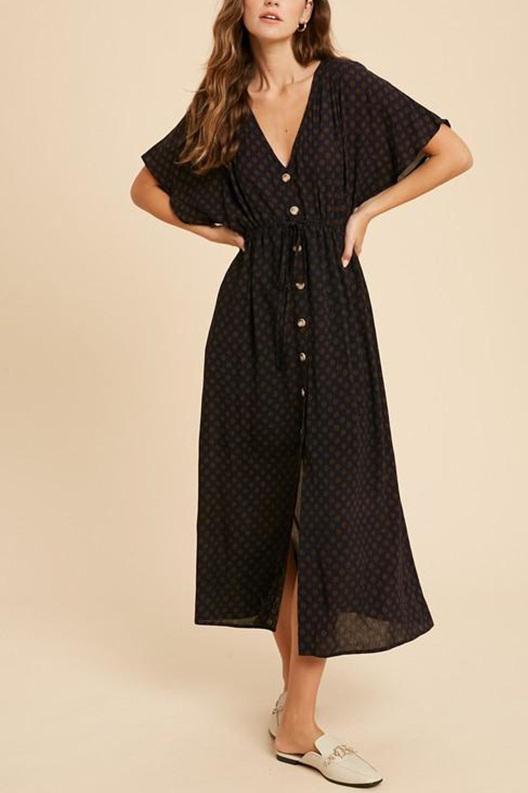 Wishlist Button-Down Waist-Tie Maxi-Dress - Main Image