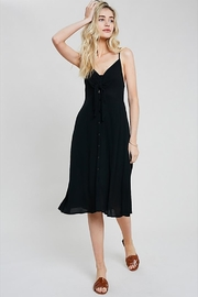 Wishlist Button-Tie Midi Dress - Product Mini Image