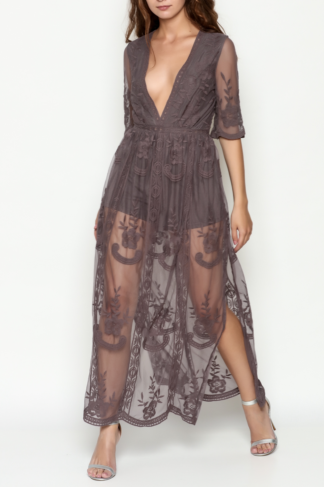 Wishlist Charcoal Maxi Romper - Main Image