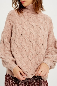 Shoptiques Product: Chunky Cable Knit Turtleneck