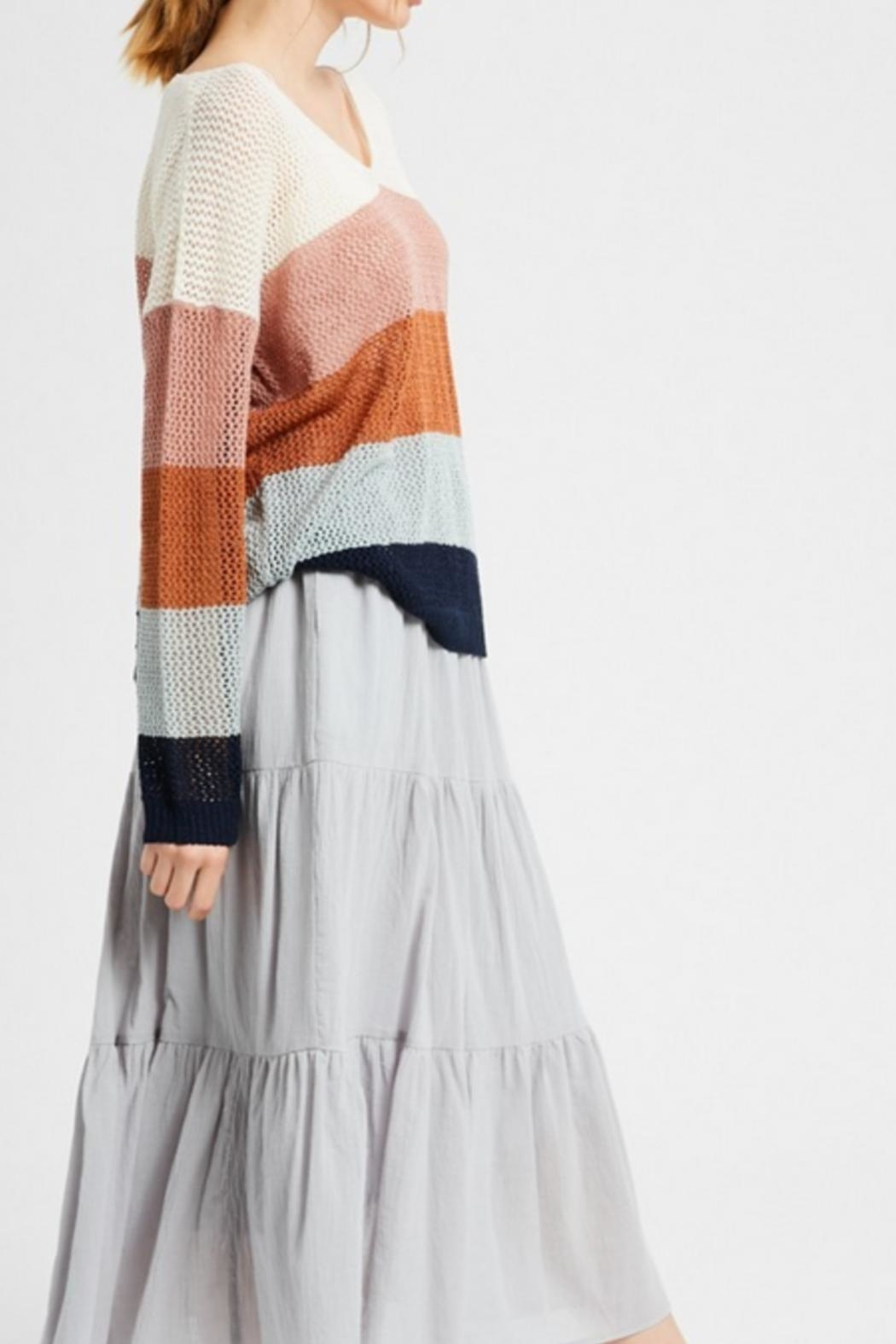 Wishlist Combo Striped Sweater - Front Full Image