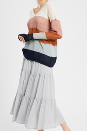 Wishlist Combo Striped Sweater - Front cropped