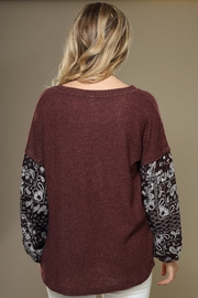 Wishlist Contrast-Sleeve Thermal Top - Other