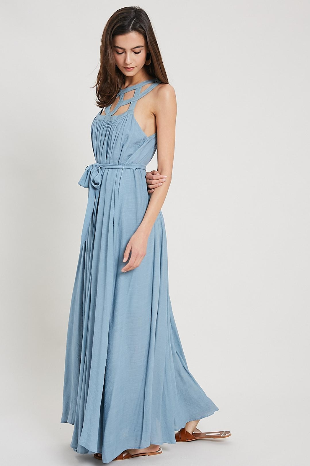 Wishlist Cut-Out Collar Maxi - Back Cropped Image