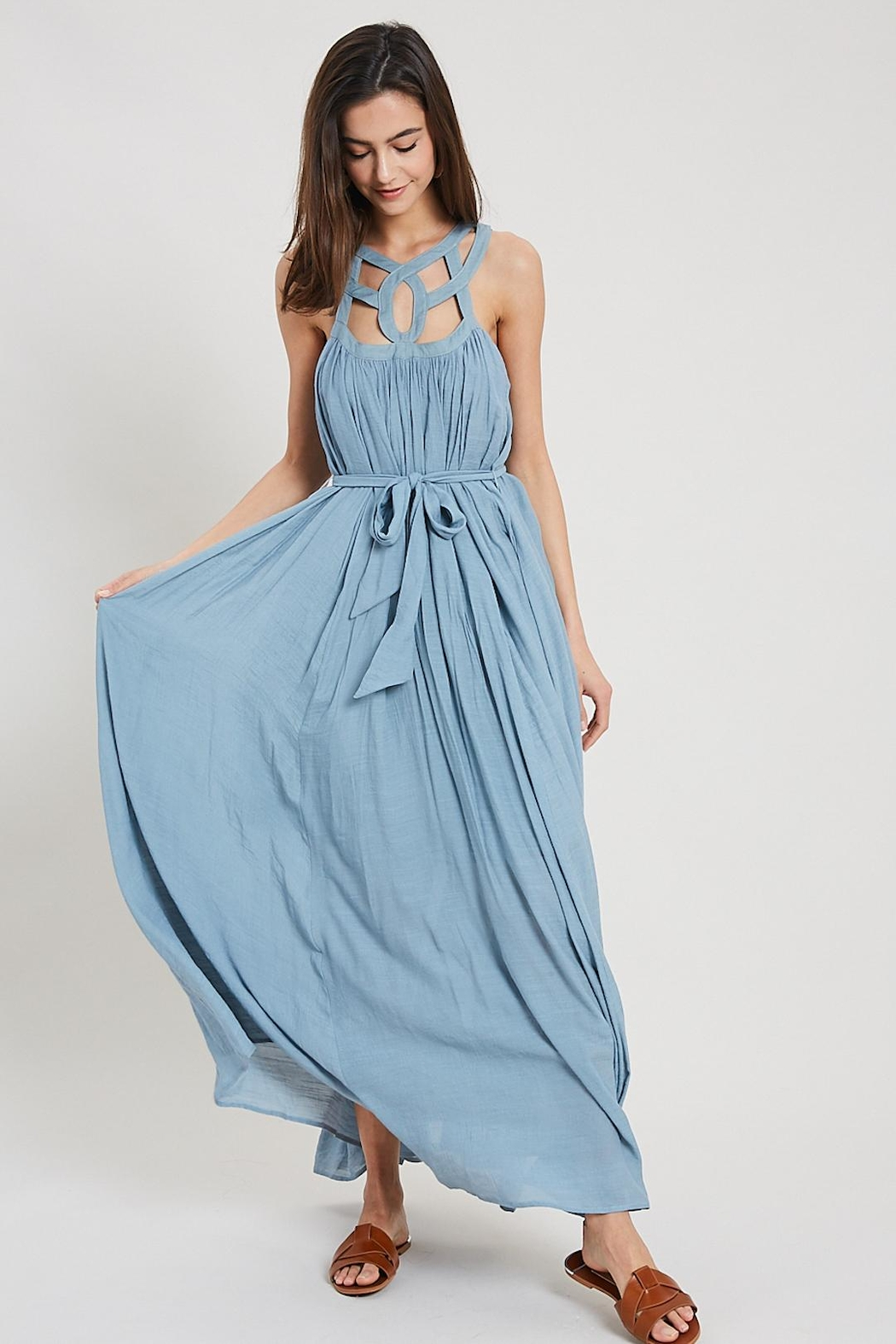 Wishlist Cut-Out Collar Maxi - Side Cropped Image