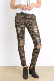 Wishlist Distressed Camo Pants - Product Mini Image