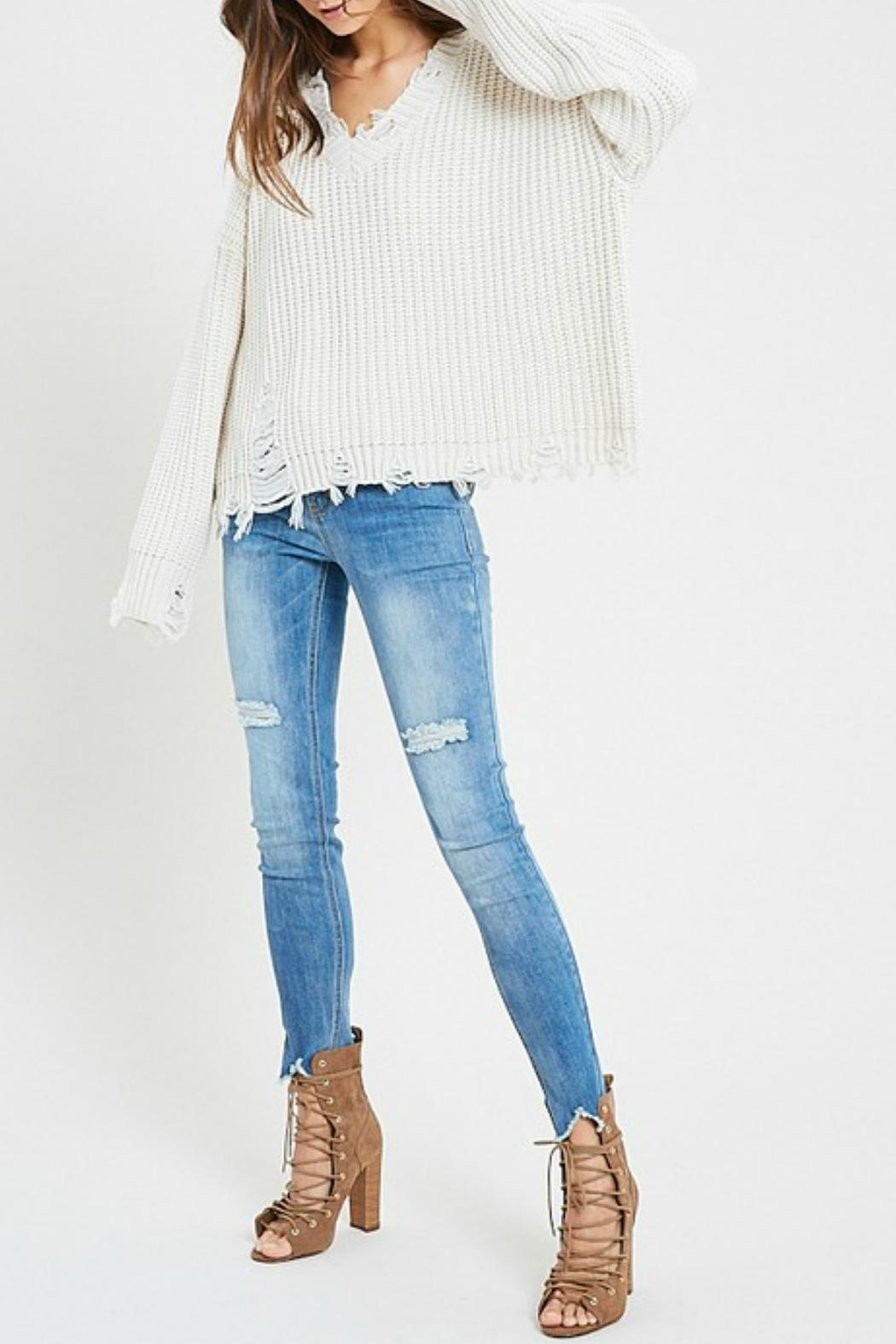 26fe58d177 Wishlist Distressed V-Neck Sweater from Texas by POE and Arrows ...