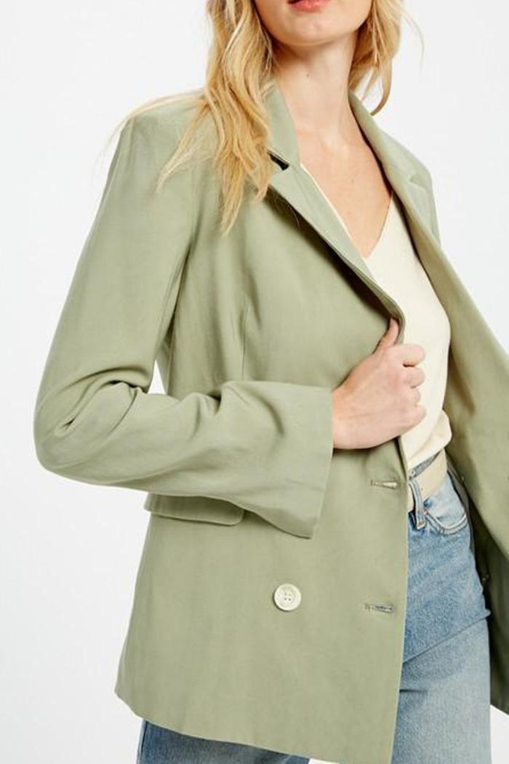 Wishlist Double Breasted Jacket - Back Cropped Image