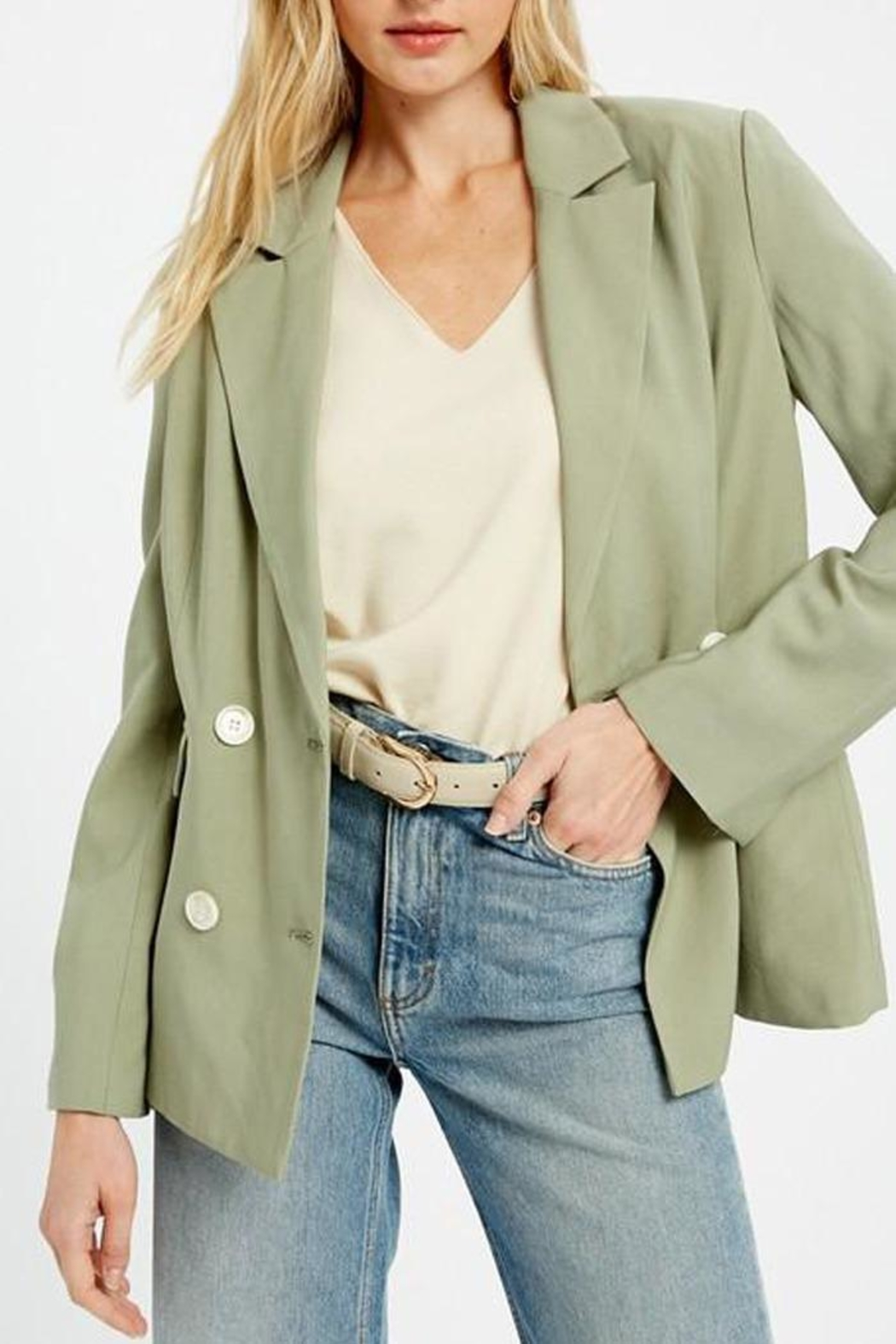 Wishlist Double Breasted Jacket - Side Cropped Image