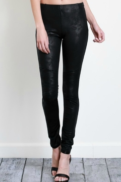 Shoptiques Product: Faux-Leather Moto Leggings