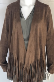 Wishlist Fringe-Hem Suede Jacket - Product Mini Image