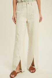 Wishlist Front Slit Straight Leg Pants - Product Mini Image