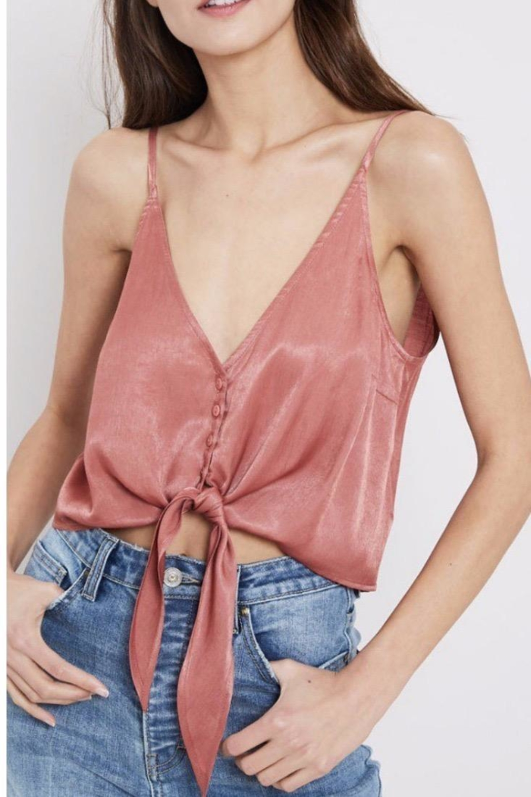 Wishlist Ginger Silky Camisole - Front Cropped Image