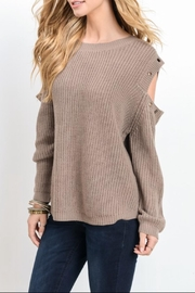 Wishlist Grommet Shoulder Sweater - Product Mini Image