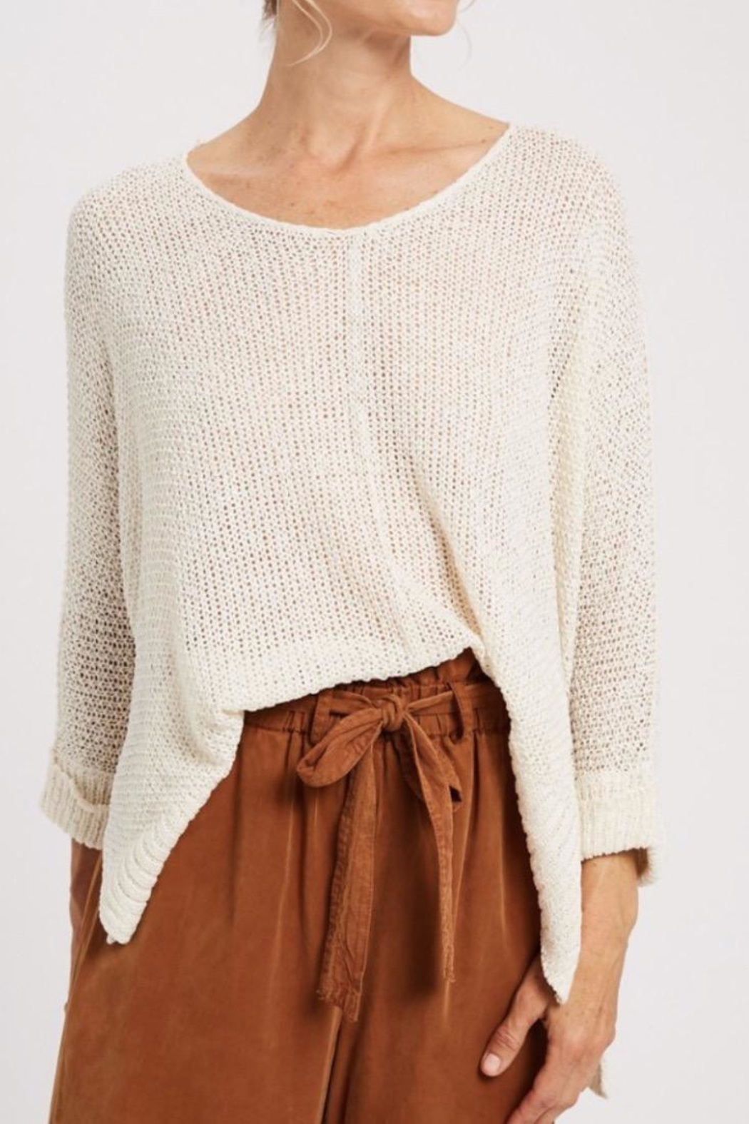 Wishlist Ivory Knit Sweater - Main Image