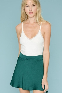 Shoptiques Product: Lace-Trim Knit Tank
