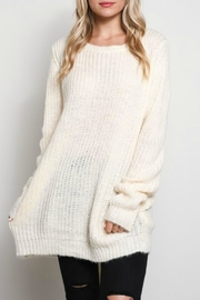 Wishlist Lace Up Sweater - Front cropped