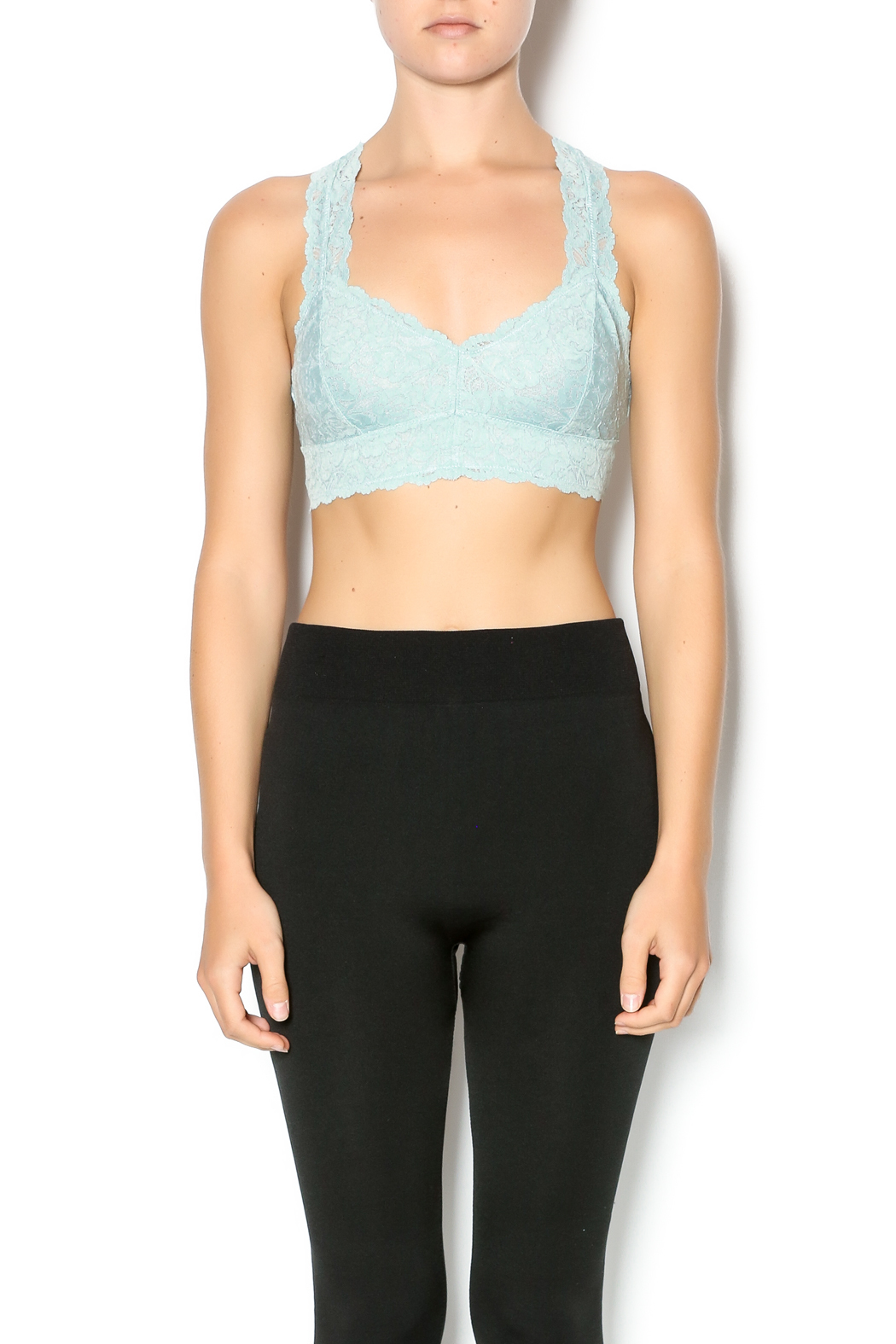 Wishlist Lacy Racer Back Bralette - Front Cropped Image