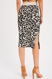 Wishlist Leopard Causal Knit Skirt - Side cropped