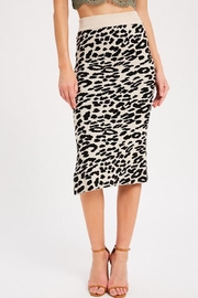 Wishlist Leopard Causal Knit Skirt - Front cropped