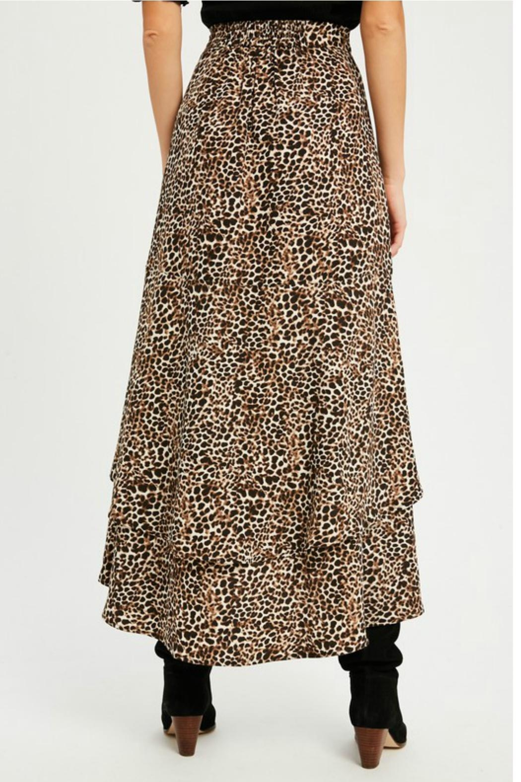 Wishlist Leopard Tiered Skirt - Front Full Image