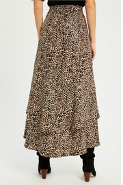 Wishlist Leopard Tiered Skirt - Front full body