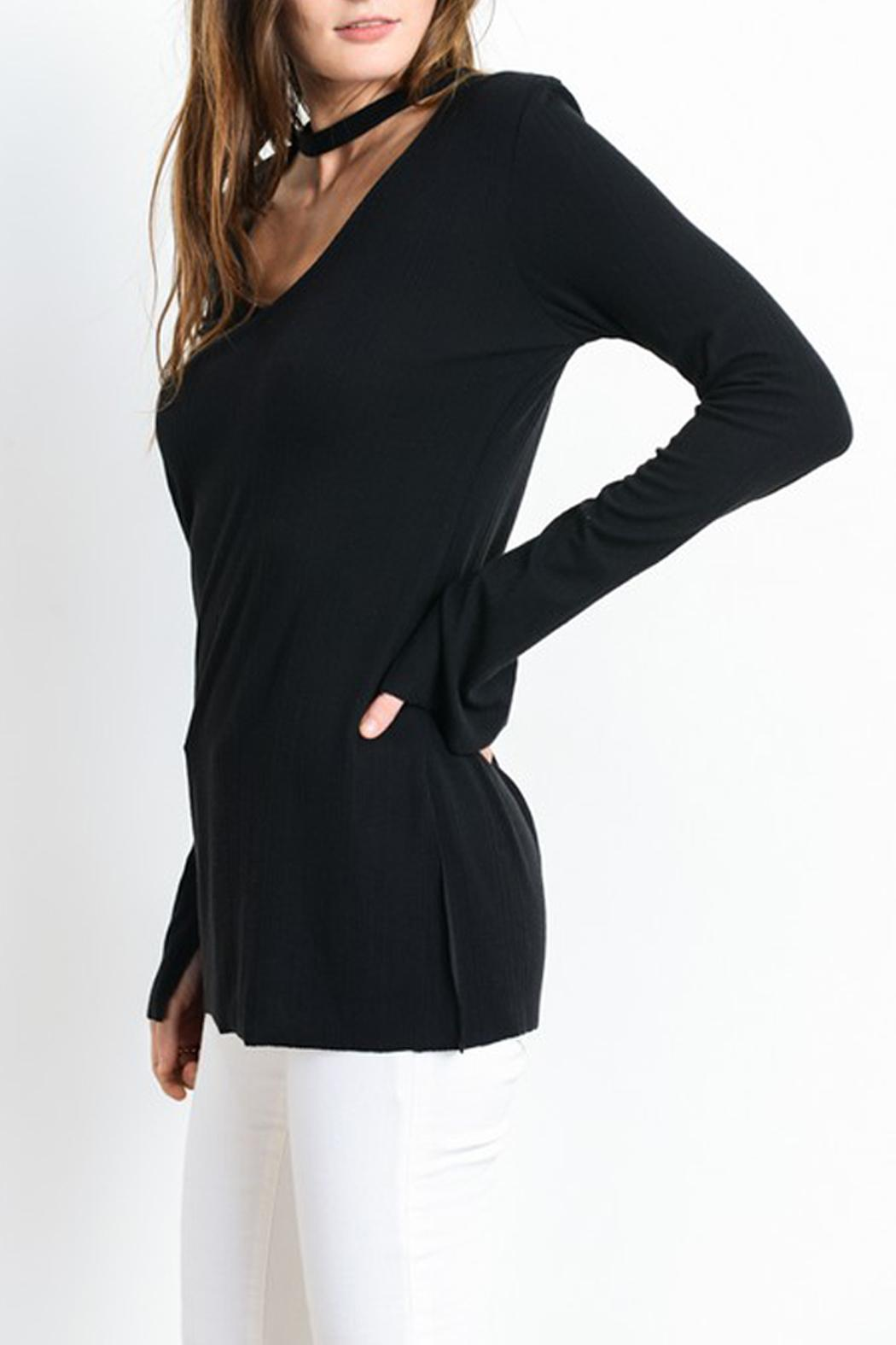 Wishlist Long Sleeve High Low Top - Front Full Image