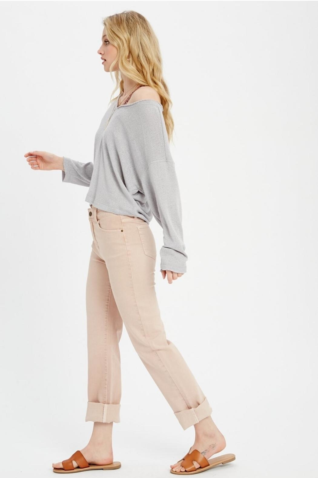 Wishlist Long Sleeve Knit Top - Side Cropped Image