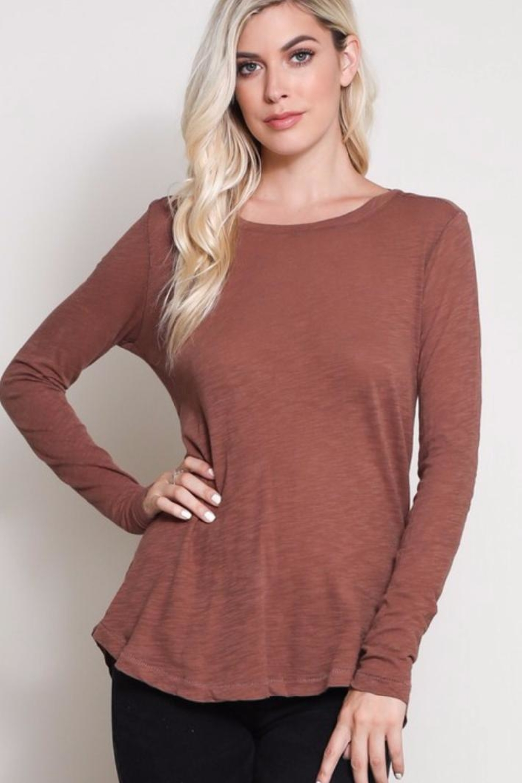 Wishlist Long Sleeve Tee - Front Cropped Image