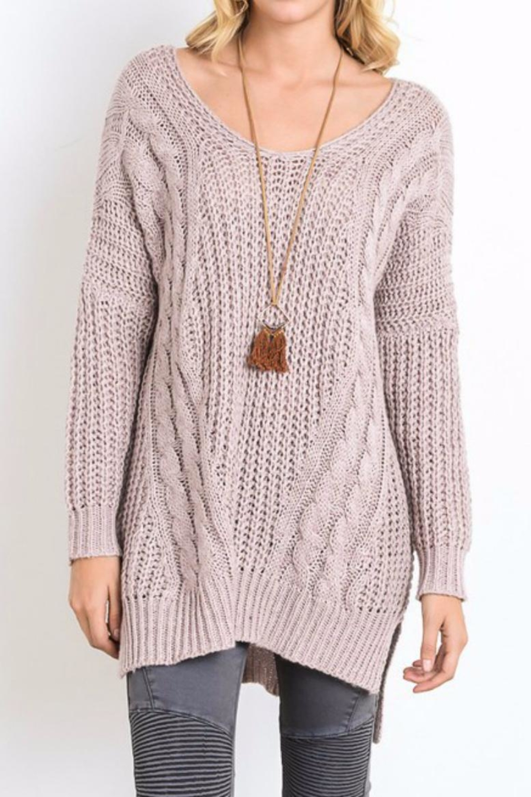 Wishlist Mauve Sweater Tunic Top from Tennessee by Threads ...
