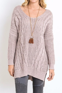Wishlist Mauve Sweater Tunic Top - Product List Image
