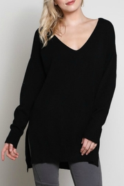 Wishlist Midnight V Neck Sweater - Front cropped