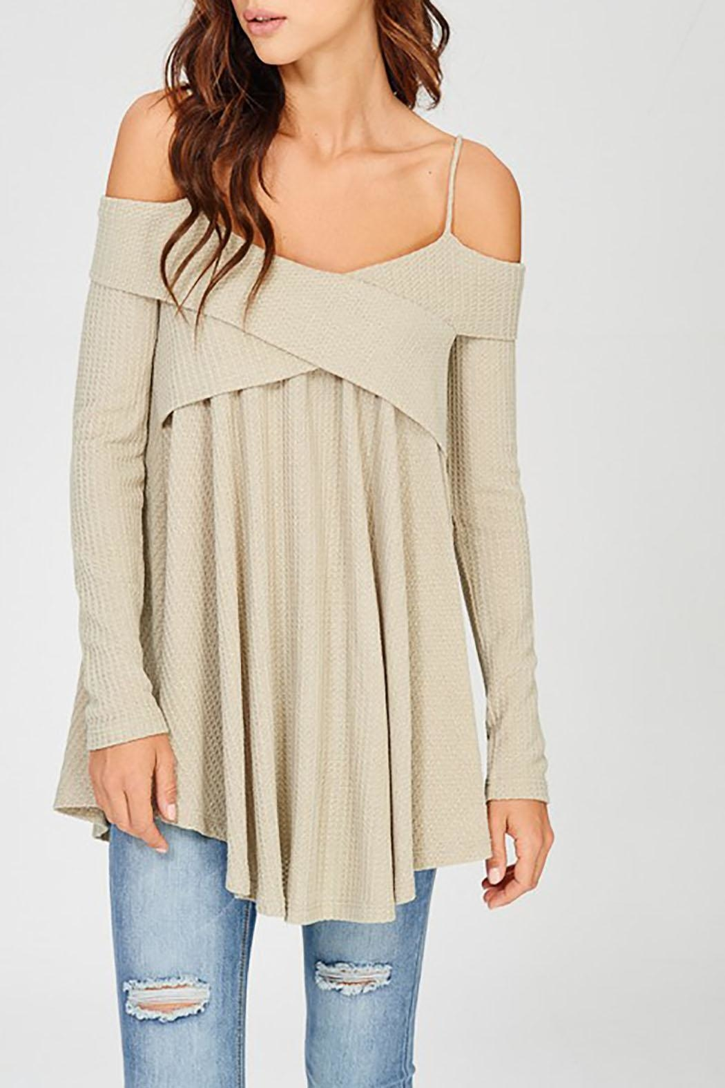 Wishlist Off Shoulder Thermal - Front Cropped Image