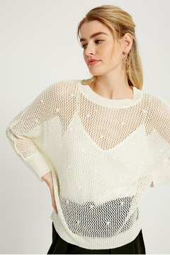 Shoptiques Product: Open-Knit Crochet Top