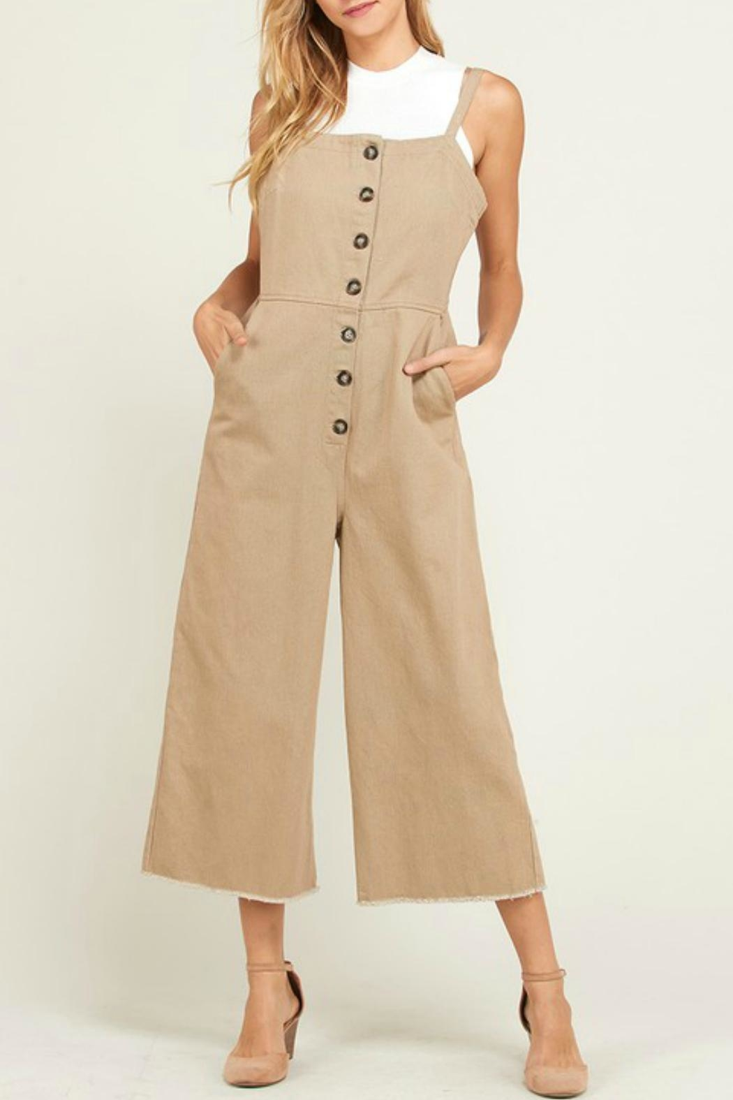 Wishlist Overall Button-Down Jumper - Front Cropped Image