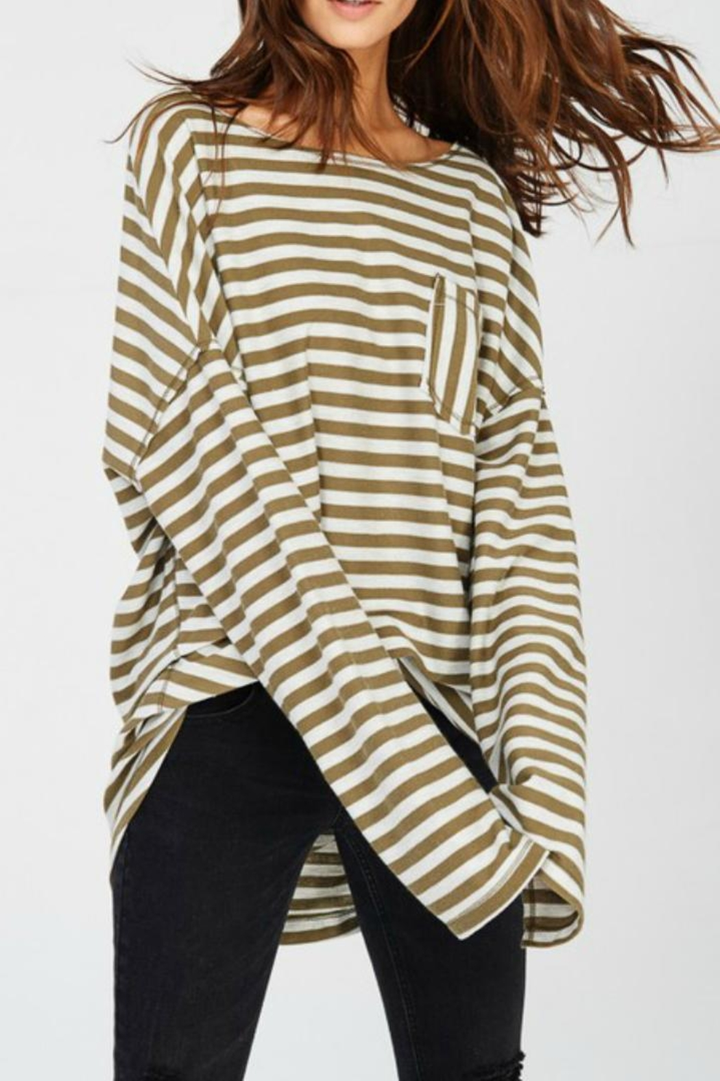 Wishlist Oversize Striped Tee - Main Image