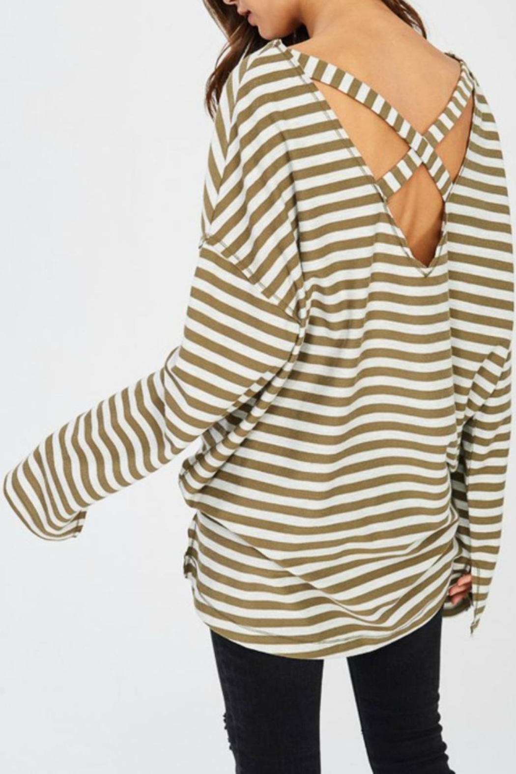 Wishlist Oversize Striped Tee - Front Full Image