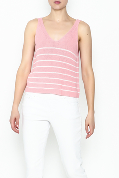 Wishlist Pink Striped Tank Top - Product List Image
