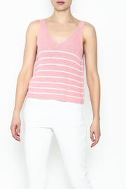 Wishlist Pink Striped Tank Top - Product Mini Image