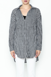 Wishlist Plaid Long Sleeve Tee - Front full body