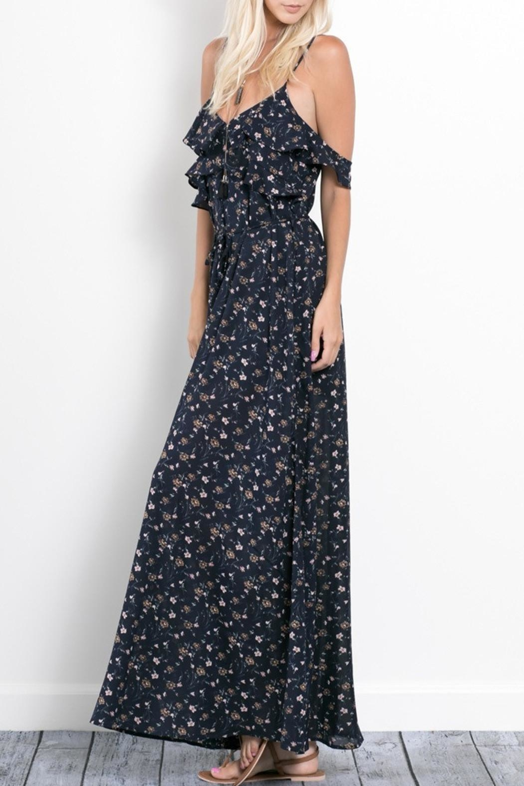 Wishlist Rebecca Floral Maxi Dress - Back Cropped Image