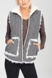 Wishlist Reversible Quilted-Fur Vest - Front cropped