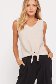 Wishlist Ribbed-Knit V-Neck Top - Product Mini Image