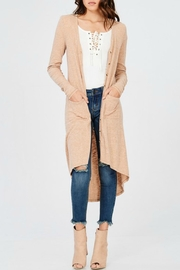 Wishlist Ribbed Midi Cardigan - Product Mini Image