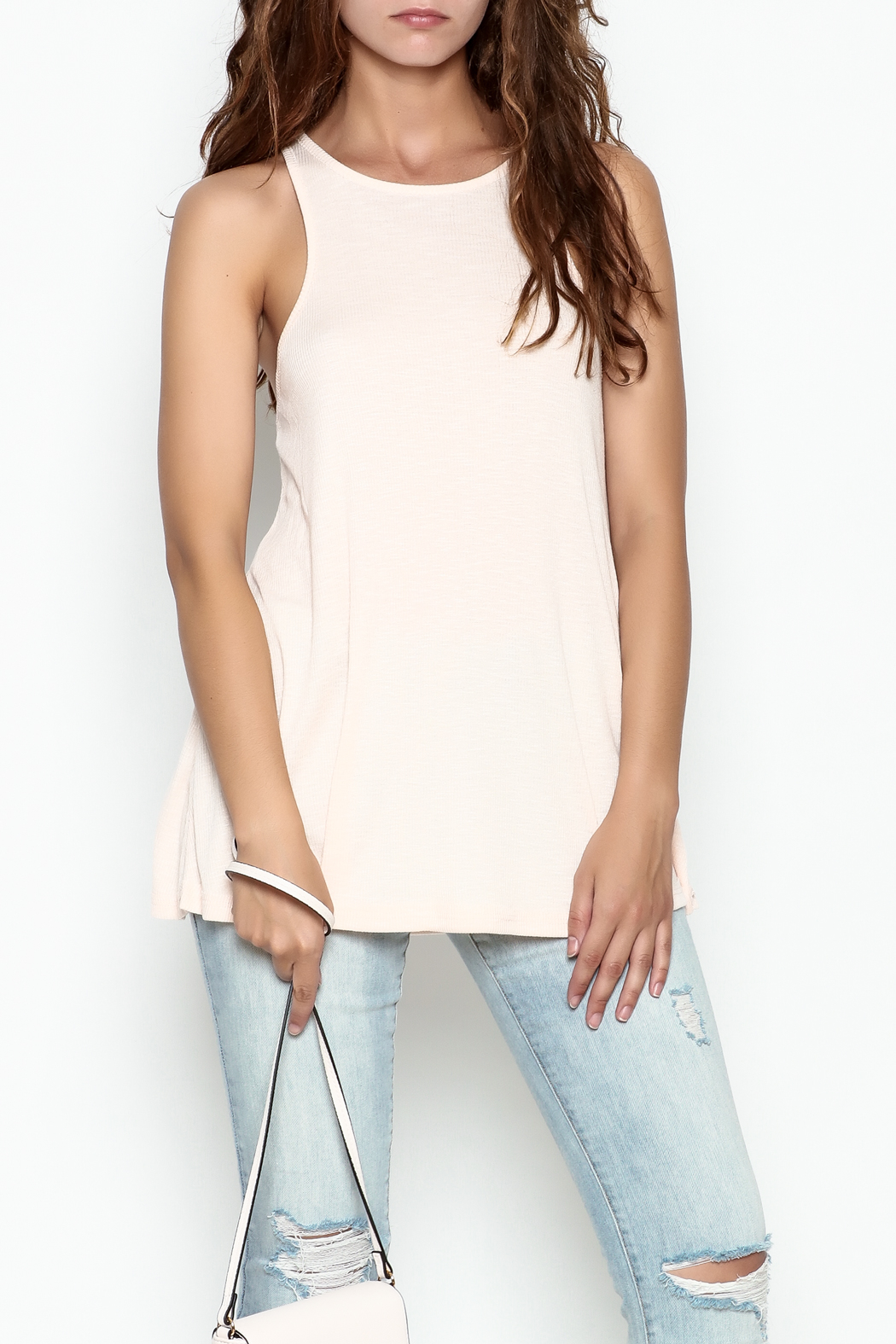 Wishlist Ribbed Tank Top - Front Cropped Image