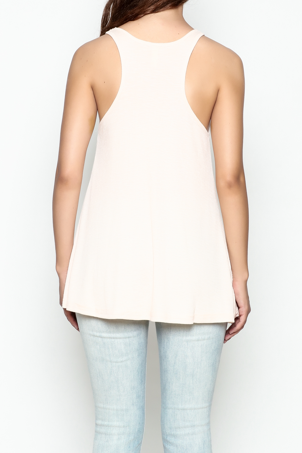 Wishlist Ribbed Tank Top - Back Cropped Image