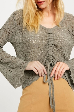 Shoptiques Product: Ruched Detail Summer Sweater